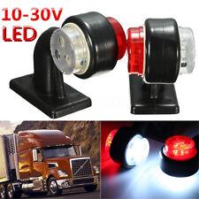 2x 10-30V LED Truck Trailer Lorry Van Side Marker Lamp Indicator Light Red White
