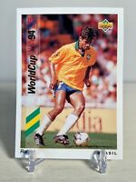 RAI BRAZIL 1993 Upper Deck Soccer Rookie Card #71 1994 FIFA World Cup MINT