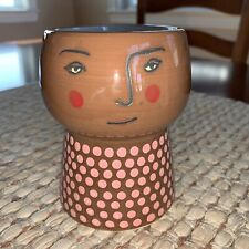 """New listing New Target Opalhouse Face Planter Family Planter Pot Brown 4"""" Stoneware"""