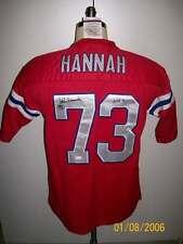 JOHN HANNAH SIGNED T/B NEW ENGLAND PATRIOTS JERSEY HOF91
