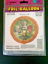 """Unique Helium 18"""" Foil Balloon Universal Monsters Printed on both sides"""