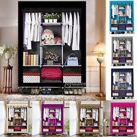 1pcs Large Portable Clothes Closet Wardrobe Storage Organizer & Shelves - USA