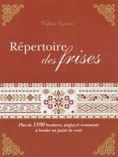 Livre Répertoire des frises au point de croix Valérie Lejeune rare