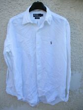 Chemise polo by RALPH LAUREN Yarmouth blanc manches longues 15 1/2 39 M