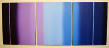 acrylic painting canvas triptych impasto art artist abstract modern wall decor