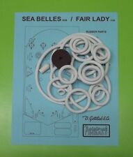 1956 Gottlieb Sea Belles, Fair Lady pinball rubber ring kit