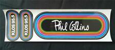 Phil Collins Original Klos 95.5 Vintage 80's Rainbow Bumper Sticker Set