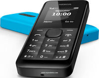 Brand New Nokia 105 Dual Sim BLACK unlock all  Networks mobile phone