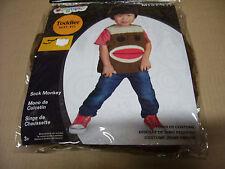 Sock Monkey Puppet Toddler Size M, 3T-4T Child Halloween Costume New Vest