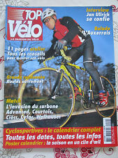 TOP VELO N°59: FEVRIER 2002: JAN ULLRICH - CARBONE ADVANCED CIOCCCYFAC COURTOIS