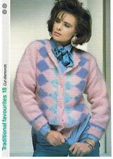 CUT DIAMONDS knitting pattern, cardigan - Marshall Cavendish pamphlet TF18