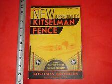 BA628 Vintage 1937 Kitselman Brothers Paint Chart Catalog