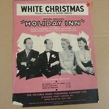 song sheet WHITE CHRISTMAS Irving Berlin's HOLIDAY INN 1942