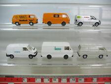 N348-0,5# 6x Wiking H0 Volkswagen VW: 300 302 Wero, Siemens, Claas,...