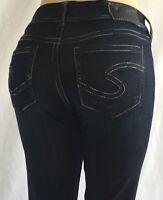 "NEW Silver Jeans Women's SUKI 17"" Bootcut Leg Mid Rise 80902A"