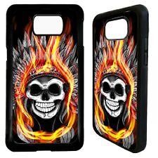Fire skull headdress aztec case cover for Samsung Galaxy S7 S8 S9 s10 s10e plus
