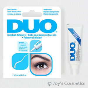 """1 Duo Striplash Adhésif Imperméable Cil Colle """" 7g Blanc/Transparent """" Joy's"""