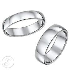 NUOVO LUI E LEI Serie Solid Titanio Alto mirrorred Lucidato wedding Anelli 5 & 7mm