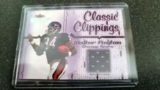 2002 FLEER THROWBACKS CLASSIC CLIPPING WALTER PAYTON JERSEY CARD (BEARS)
