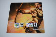 Turok 3 Shadow of Oblivion P-NUS-NTKE-USA Nintendo 64 N64 Video Game Poster