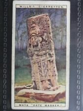 No.13 MAYA DATE MARKER Wonders of the Past - W.D. & H.O.Wills 1926