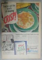 Kellogg's Cereal Ad: The Knack of Staying Crisp ! 1939 Size: 11 x 15 inches