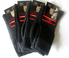 4 Paire Homme Chaussettes De Travail Haute Qualité Avec Coton Gris Et Noir 43-46