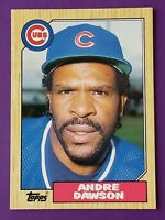 1987 Topps Traded Chicago Cubs Baseball Card #27T Andre Dawson