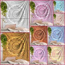 Indian Cotton Ombre Mandala Tapestry Wall Hanging Bedding Bedspread Blanket Twin