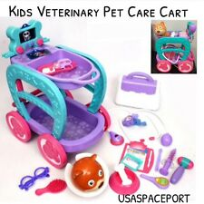 Kids Veterinary Cart Doctor Pet Vet Care Medical Center Sounds X-Ray Set + PUPPY