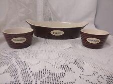 Set Of 3 Portobello Oven To Table Ware Dishes (designed For Rayware) Brown/cream
