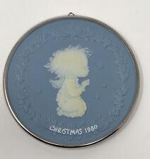 Hallmark Betsey Clark Blue Cameo Christmas 1980 Ornament Praying Angel