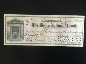 """CAPTAIN IN """"BUFFALO SOLDIERS"""" 9th Cavalry * SIGNED CHECK By Officer, 1903"""