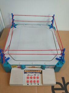 Superstar Broadcast Talking Wrestling Ring RARE! WORKS! 1980s 1990s WWF WCW era