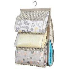 mDesign Chevron Fabric Baby Nursery Closet Organizer for Blankets Towels Bibs Di