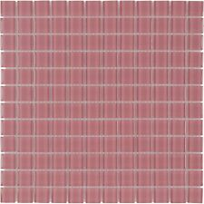 Modern Uniform Squares Red Glass Mosaic Tile Backsplash Kitchen Wall MTO0370