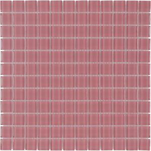 Modern Uniform Squares Red Glass Mosaic Tile Backsplash Kitchen Wall MTO0370