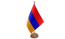 ARMENIA Piccolo da tavolo Bandiera con di legno supporto