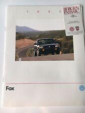 1990 VW Volkswagen Fox Original Sales Brochure
