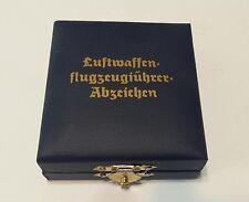 WWII WW2 German Luftwaffe pilot medal badge box presentation case