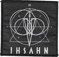 Official Licensed Merch Woven Sew-on PATCH Black Metal Rock IHSAHN Logo