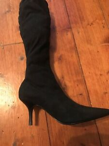Ladies Colin Stuart Stretch Faux Suede Heeled Boot US 8.5