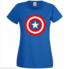 lady captain america tightfit top cotton medium womans top