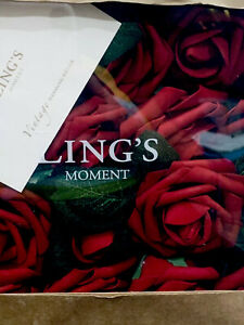 2 Boxes Ling's Moment Artificial Red Roses 50 Pcs Real Looking Flowers Burgundy