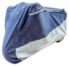 Bike It Deluxe Heavy Duty Rain Cover - Blue/Silver - XL Fits Up To 1200cc
