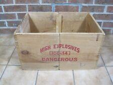 Vintage Wooden High Explosives Dynamite Box - Independent Explosives Co. Crate
