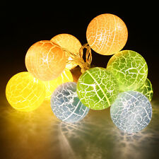 1.2M 10 LED Crackled Ball Fairy String Lights Indoor Wedding Party Decor Lamp US