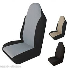 T21554GR Car Front Seat Cover Packing Waterproof  Auto Cushion Protector Gray