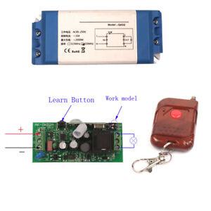 Wide Volt Wireless Switch AC DC 16V 24V 48V 85V 110V 220V 250V Remote Switches