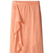 NWT Junarose Nydia Maxi Skirt Ruffle Skirt Peach Long Skirt, Size 14